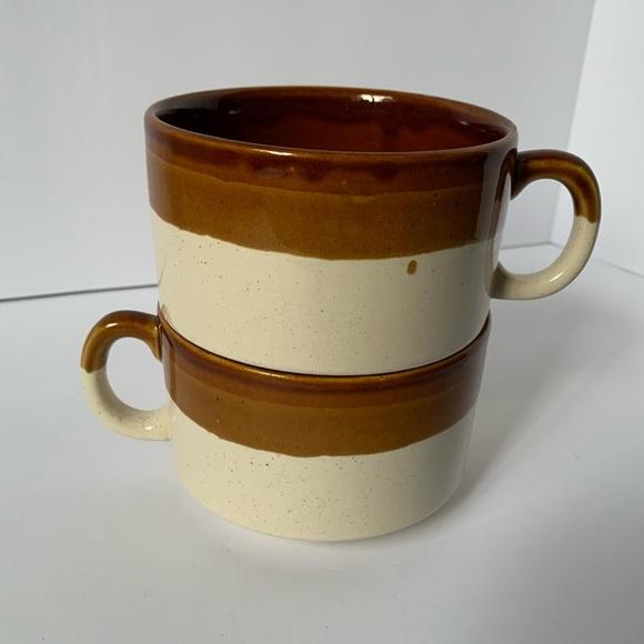 Vintage Coffee Mugs, set of 2